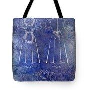 1940 Waitress Uniform Patent Blue Tote Bag