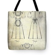 1940 Waitress Uniform Patent Tote Bag