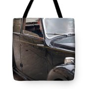 1940s Couple Driving In A Vintage Car Tote Bag