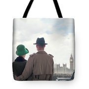 1940s Couple In London  Tote Bag