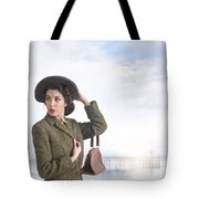 1940s Woman At The Seaside  Tote Bag