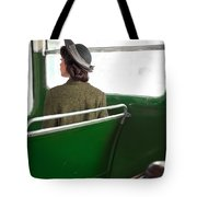 1940s Woman On A Bus Tote Bag
