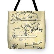1941 Bulldozer Patent Tote Bag