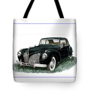 1941 Lincoln Continental Mk 1 Tote Bag by Jack Pumphrey