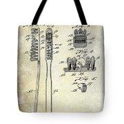 1941 Toothbrush Patent  Tote Bag