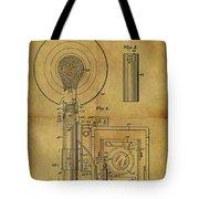 1943 Camera Flash Patent Tote Bag