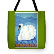 1943 Montreaux Switzerland Travel Poster Tote Bag