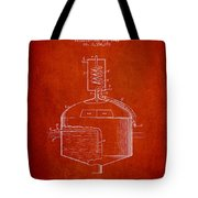 1944 Art Of Brewing Beer Patent - Red Tote Bag