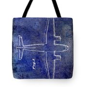 1945 Transport Airplane Patent Blue Tote Bag