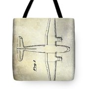 1945 Transport Airplane Patent Tote Bag