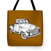 1947 Chevrolet Thriftmaster Pickup Illustration Tote Bag