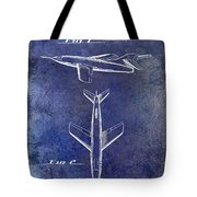 1947 Jet Airplane Patent Blue Tote Bag