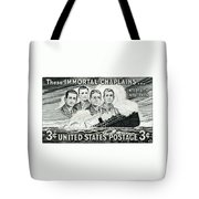 1948 Immortal Chaplains Stamp Tote Bag