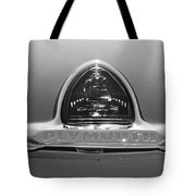 1948 Plymouth Coupe Emblem -0190bw Tote Bag