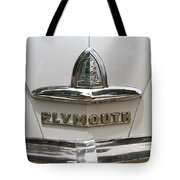 1948 Plymouth Hood Logo Tote Bag