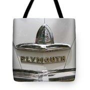 1948 Plymouth Hood Logo Tote Bag