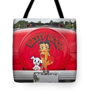 1949 Chevrolet Convertible Betty Boop  Tote Bag