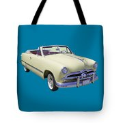 1949 Ford Custom Deluxe Convertible Tote Bag