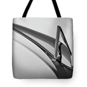 1949 Hudson Super Six  Hood Ornament -0436bw Tote Bag