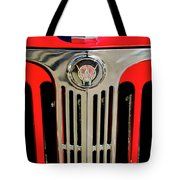 1949 Willys Jeepster Hood Ornament And Grille Tote Bag