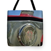 1949 Willys Jeepster Hood Ornament Tote Bag