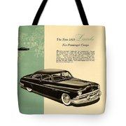 1950 Lincoln 6 Passenger Coupe Tote Bag