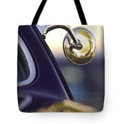 1950 Mercury Custom Lead Sled Side Mirror Tote Bag