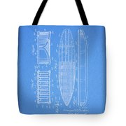 1950 Surfboard Patent Tote Bag