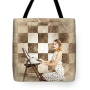 1950s Fictional Pinup Writer Tote Bag