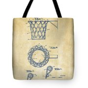 1951 Basketball Net Patent Artwork - Vintage Tote Bag by Nikki Marie Smith