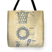 1951 Basketball Net Patent Artwork - Vintage Tote Bag