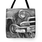 1951 Chevrolet Power Glide Black And White 2 Tote Bag by Lisa Wooten