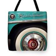 1951 Mercury Montclair Convertible Wheel Emblem Tote Bag