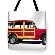 1951 Willy's Jeep Wagon Tote Bag