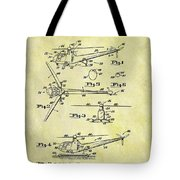 1952 Helicopter Patent Tote Bag