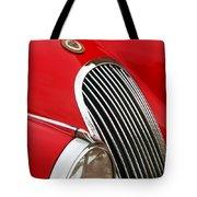 1952 Jaguar Xk 120 Grille Emblem Tote Bag