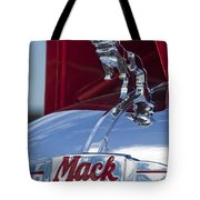 1952 L Model Mack Pumper Fire Truck Hood Ornament Tote Bag by Jill Reger