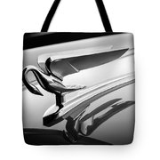 1952 Packard 200 Sedan Hood Ornament -1185bw Tote Bag by Jill Reger