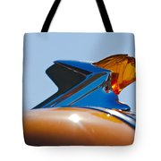 1952 Pontiac Tin Woodie Wagon Hood Ornament 2 Tote Bag
