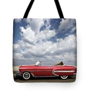 1953 Chevy Bel Air Convertible, Mixed Media, Louis Vuitton Steamer Trunk  Tote Bag
