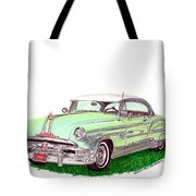 1953 Pontiac Chieftain Catalina H.t. Tote Bag