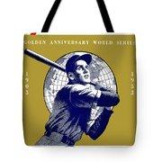 1953 Yankees Dodgers World Series Program Tote Bag