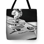1954 Bentley R-type Hood Ornament -0493bw Tote Bag by Jill Reger