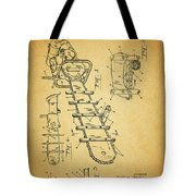 1954 Chainsaw Patent Tote Bag
