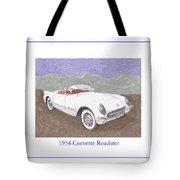 1954 Corvette Roadster Tote Bag