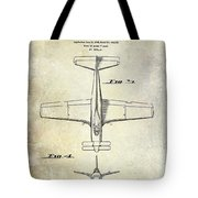 1955  Airplane Patent Drawing 2 Tote Bag