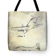 1955  Airplane Patent Drawing Tote Bag