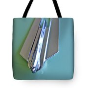 1955 Cadillac Fleetwood Sedan Hood Ornament Tote Bag