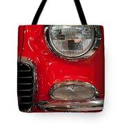 1955 Chevy Bel Air Headlight Tote Bag by Sebastian Musial