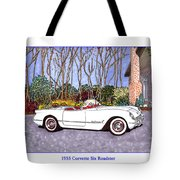 1955 Corvette Six Roadster Tote Bag